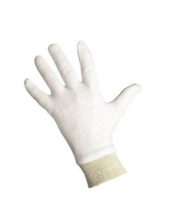 Rękawice dziane bawełniane białe CORMORAN
