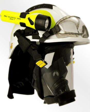 Tytan typ HOT - hełm dla ratowników z goglami, kolor j. zielony