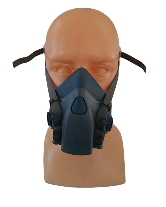 Półmaska, Maska Lakiernicza 3M+filtry+gogle